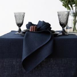 Linen Napkin Night Blue Lara