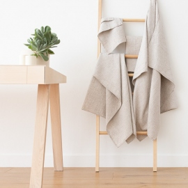 Natural Linen Cotton Mix Bath Towels Set Wafer