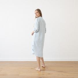 Sky Blue Melange Linen Nightie Veronica