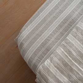 Natural Washed Bed Linen Jazz Fitted Sheet Deep Pocket