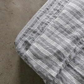 Graphite Washed Bed Linen Jazz Fitted Sheet Deep Pocket