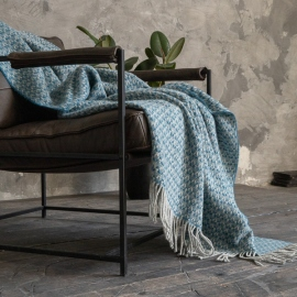 Wool Throw Teal Tito