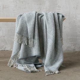 Blue Wool Throw Bruno
