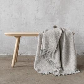 Beige Wool Throw Bruno