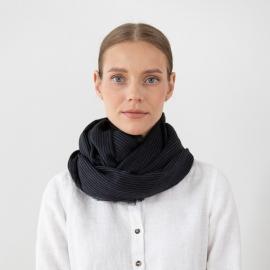 Black Wool Scarf Fabiene