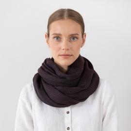 Brown Wool Scarf Fabiene