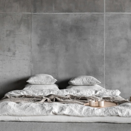 Silver  Stone Washed Rhomb Bed Linen Duvet