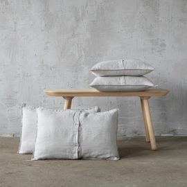 Linen Cushion Cover Oatmeal Rustico Washed
