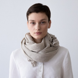Natural Linen Summer Scarf Garza