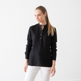 Black Linen Shirt Toby