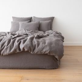 Washed Bed Linen Duvet Graphite
