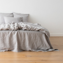 Washed Bed Linen Duvet Cool Grey
