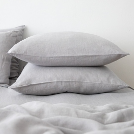 Washed Bed Linen Flat Sheet Cool Grey