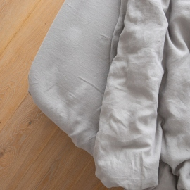 Washed Bed Linen Fitted Sheet Cool Grey