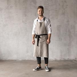 Rustic Linen Men's Apron Natural