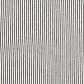 Linen Fabric Jazz Black Off White