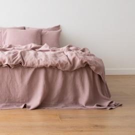 Washed Bed Linen Duvet Dusty Rose