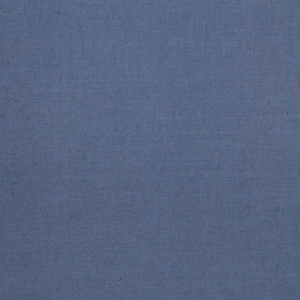 Linen Cotton Fabric Blue Paula