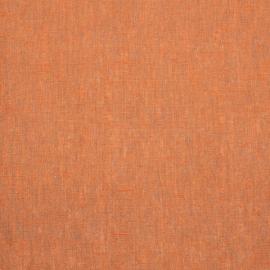 Linen Fabric Melange Orange