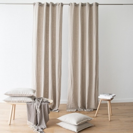 Linen Curtain Panel with Grommets Terra Natural