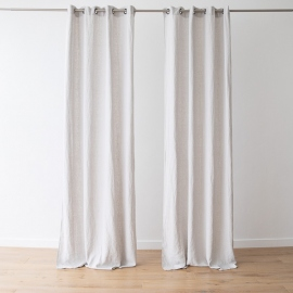 Linen Curtain Panel with Grommets Terra Silver
