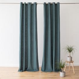 Linen Curtain Panel with Grommets Terra Balsam Green