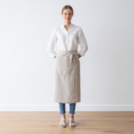 Chef's Apron Natural Stone Washed Linen