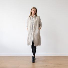 Natural Linen Jacket Long Fabio