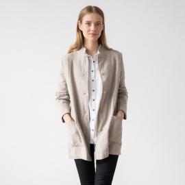 Natural Linen Jacket Short Paolo