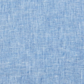 Linen Fabric Sample Crushed Melange Blue