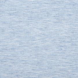 Blue Linen Fabric Sample Pinstripe