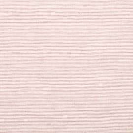 Linen Fabric Sample Pinstripe Rosa