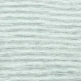 Mint Linen Fabric Sample Pinstripe