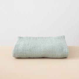 Linen Waffle Bath Towel Sea Foam