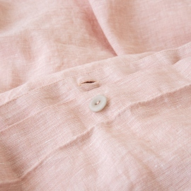 Washed Bed Linen Duvet Melange Rosa