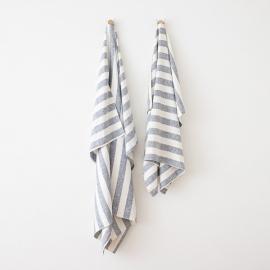 Linen Beach Towel Philippe Indigo