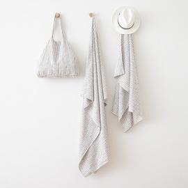 Linen Beach Sheet Brittany Graphite