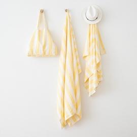 Yellow Linen Beach Bag Philippe